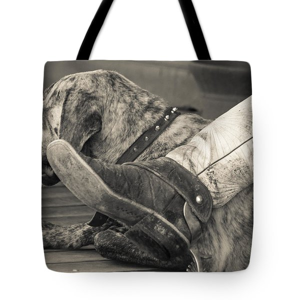 Tote Bag featuring the photograph Boot Scootin by Steven Bateson