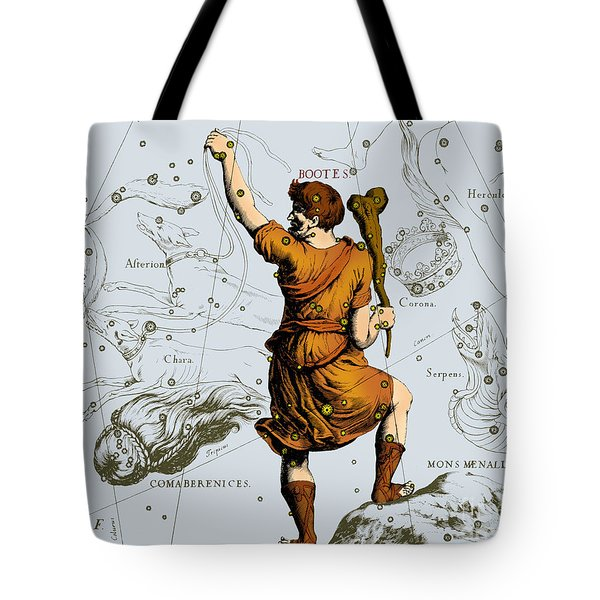 Bootes Constellation, 1687 Tote Bag by Science Source