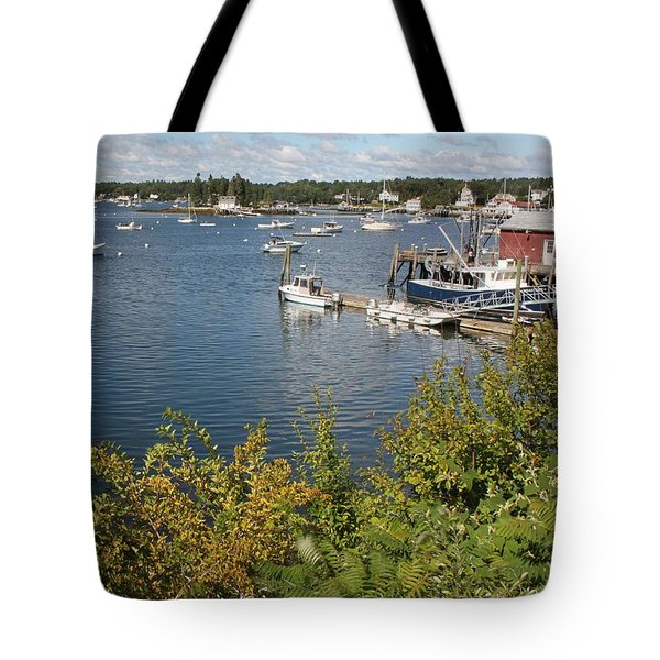 Boothbay Harbor Vista Tote Bag