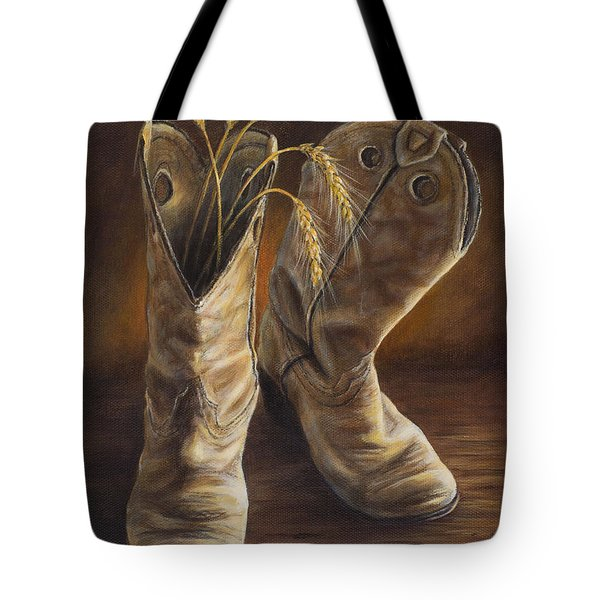 Boots And Wheat Tote Bag