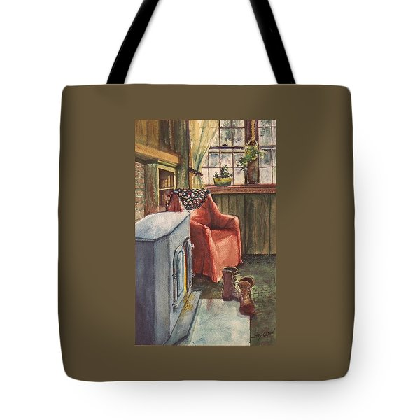Tote Bag featuring the painting Boots by Joy Nichols