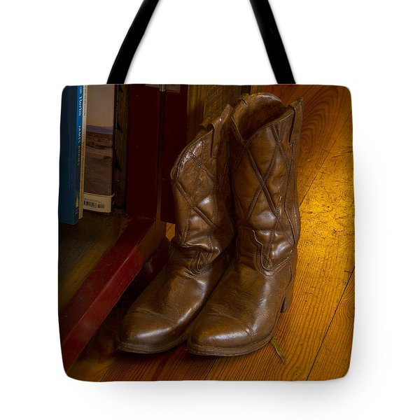 Boots Not Made For Walking Tote Bag by Jean Noren
