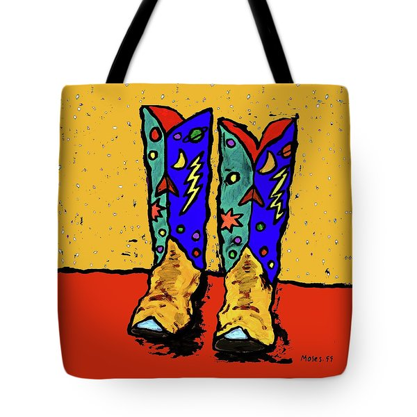 Boots On Yellow Tote Bag