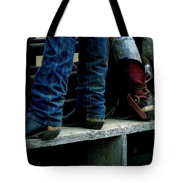 Boots Tell The Story Tote Bag by Bob Christopher