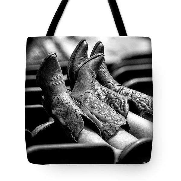 Boots Up - Bw Tote Bag