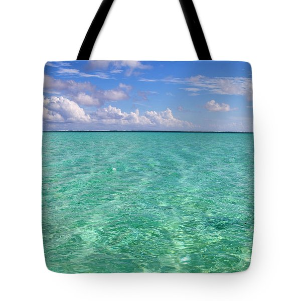 Bora Bora Green Water II Tote Bag by Eva Kaufman