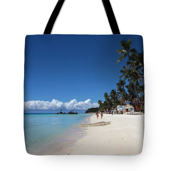 Boracay Beach Tote Bag by Joey Agbayani