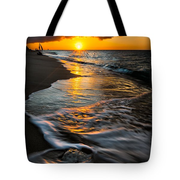 Tote Bag featuring the photograph Boracay Sunset by Adrian Evans