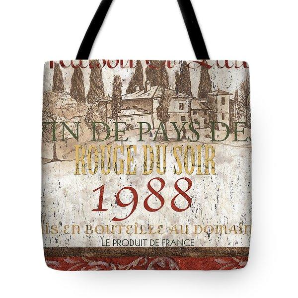 Bordeaux Blanc Label 1 Tote Bag