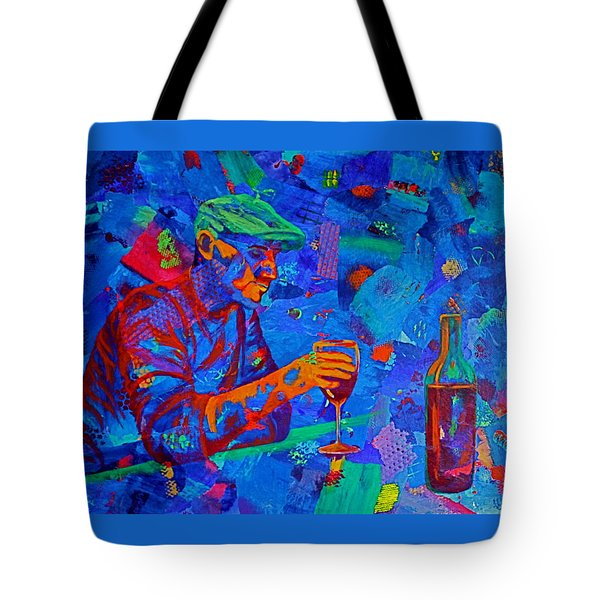 Tote Bag featuring the painting Bordeaux by Nancy Jolley