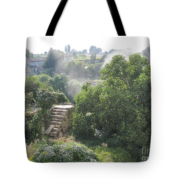 Tote Bag featuring the photograph Bordeaux Village Cloud Of Smoke  by HEVi FineArt
