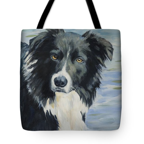 Border Collie Portrait Tote Bag