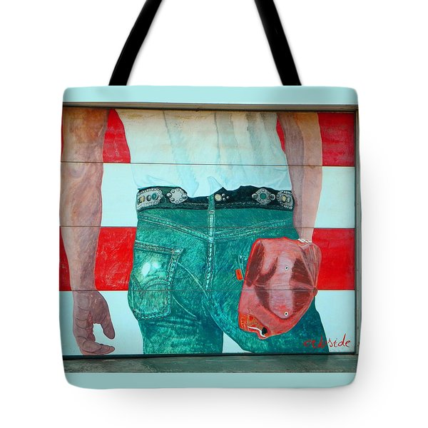 Born In The Usa Urban Garage Door Mural Tote Bag