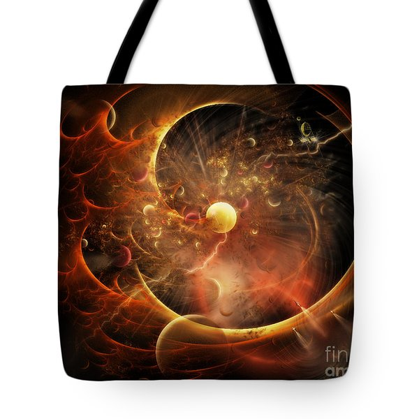Tote Bag featuring the digital art Born In The Vortex - The New Machine by Rhonda Strickland