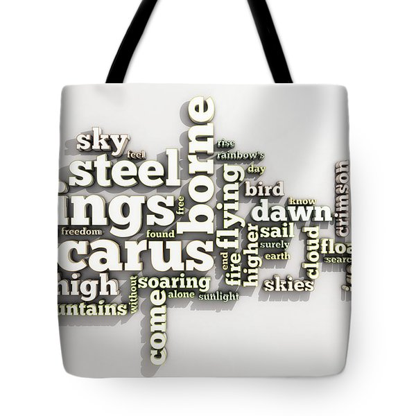 Borne On Wings Of Steel Tote Bag