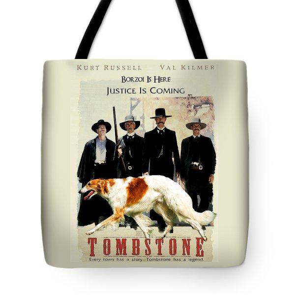 Borzoi Art - Tombstone Movie Poster Tote Bag
