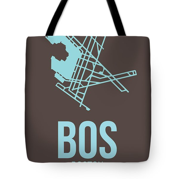Bos Boston Airport Poster 2 Tote Bag by Naxart Studio