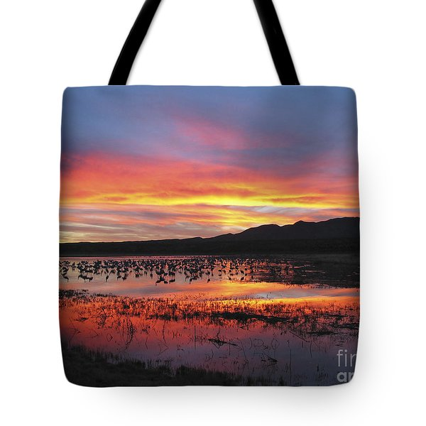Bosque Sunset I Tote Bag by Steven Ralser
