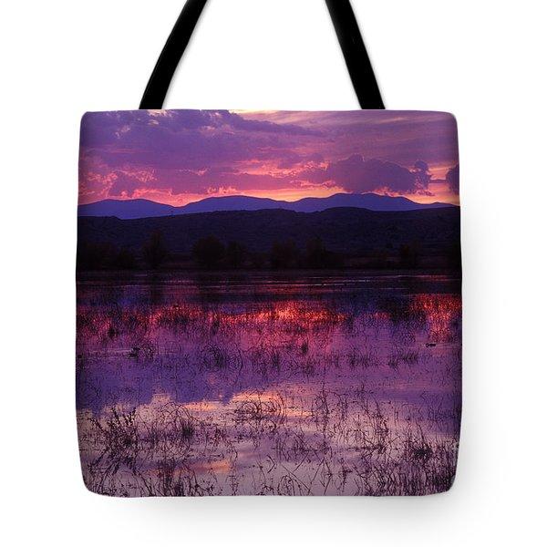 Bosque Sunset - Purple Tote Bag