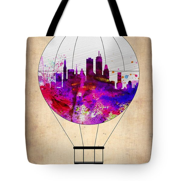 Boston Air Balloon Tote Bag by Naxart Studio