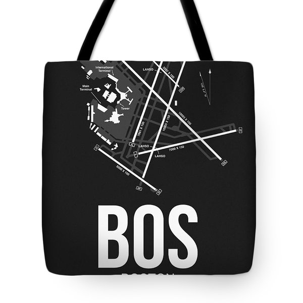 Boston Airport Poster 1 Tote Bag by Naxart Studio