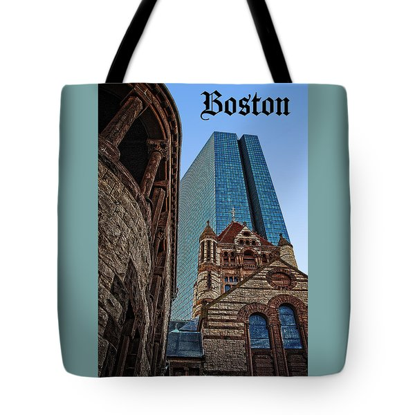 Boston Architecture Icon Poster Tote Bag