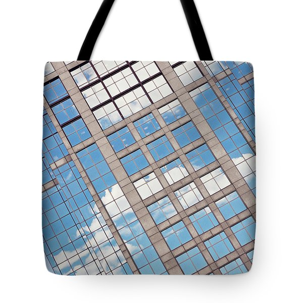 Boston Building Abstract Tote Bag