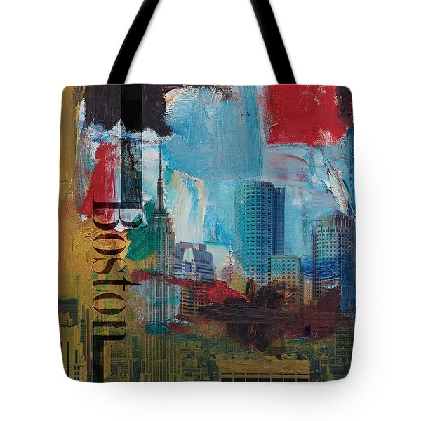 Boston City Collage 3 Tote Bag