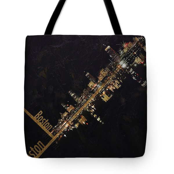 Boston City Skyline Tote Bag by Corporate Art Task Force