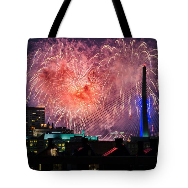 Boston Fireworks 1 Tote Bag by Mike Ste Marie