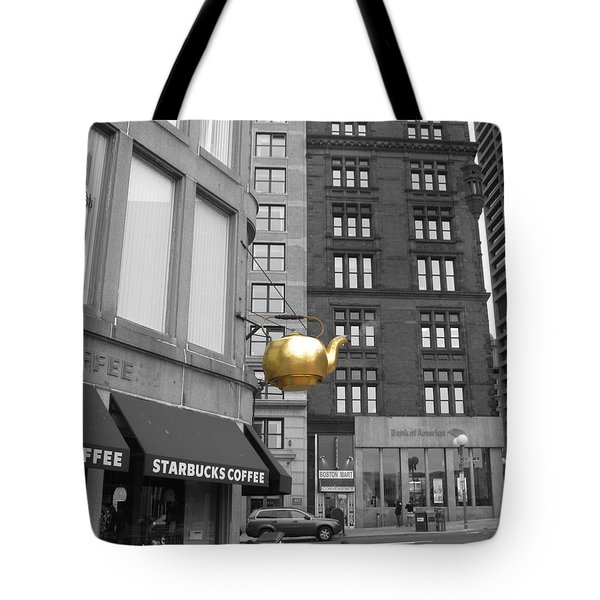 Boston Golden Teapot Tote Bag