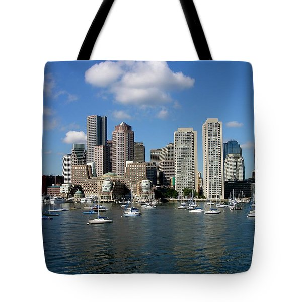 Boston Habor Skyline Tote Bag
