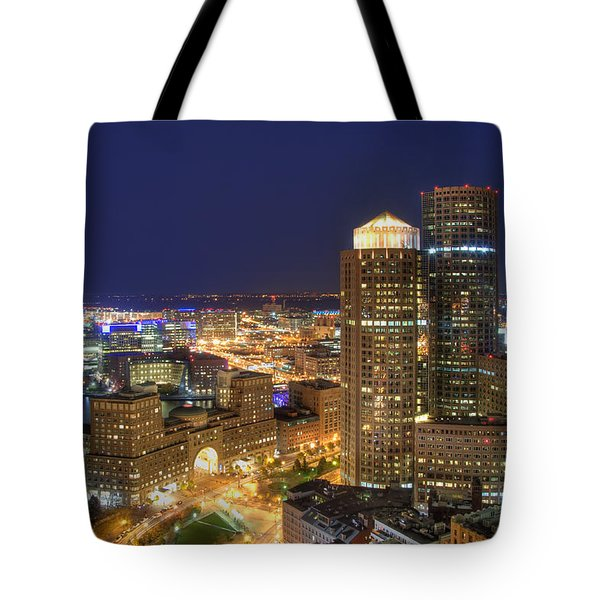 Boston Harbor Hotel Skyline Tote Bag by Joann Vitali