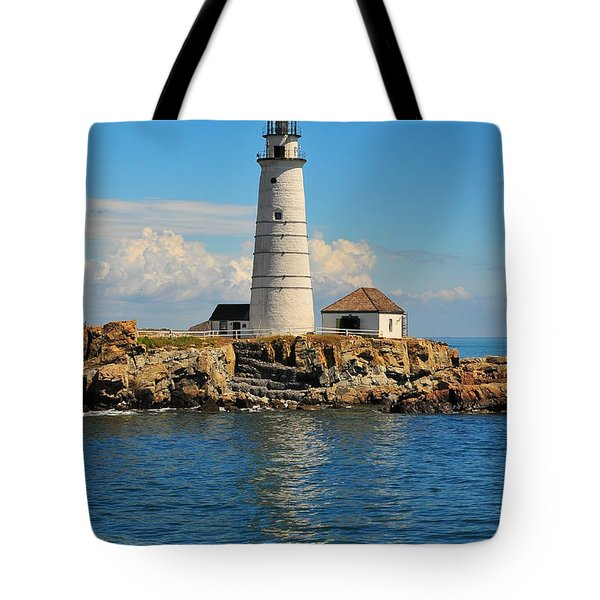 Boston Light Tote Bag by Catherine Reusch Daley
