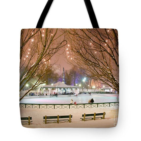 Boston New Year Skate Tote Bag by Susan Cole Kelly