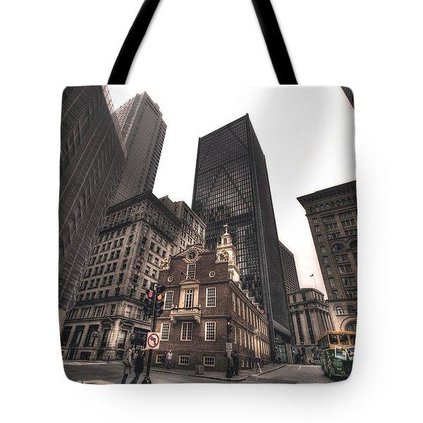 Boston Old State House Tote Bag by Joann Vitali