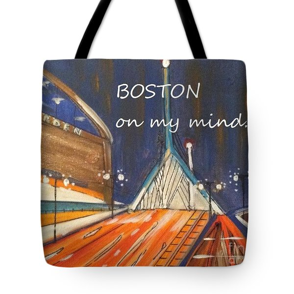 Boston On My Mind Tote Bag