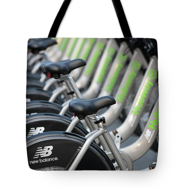 Boston Public Bikes I Tote Bag by Clarence Holmes