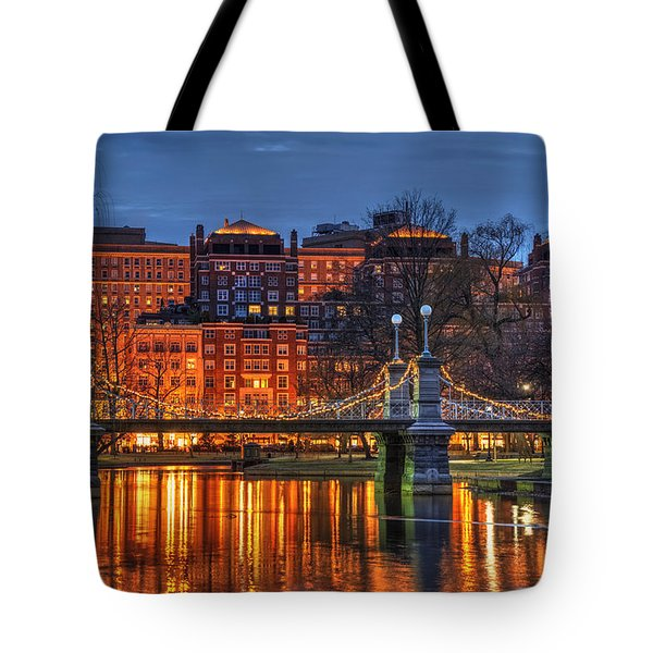 Boston Public Garden Lagoon Tote Bag