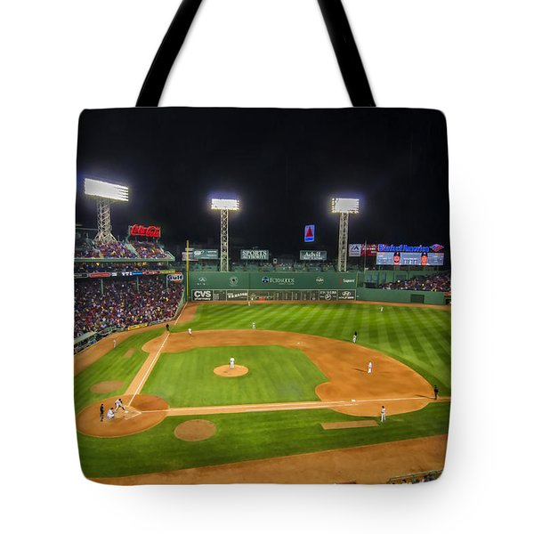 Boston Red Sox And New York Yankees At Fenway Park - Art Tote Bag