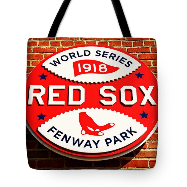 Boston Red Sox World Series Champions 1918 Tote Bag by Stephen Stookey