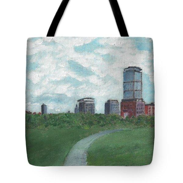 Boston Skyline 1968 Tote Bag by Cliff Wilson