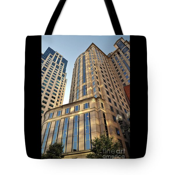 Boston Skyscrapers Tote Bag