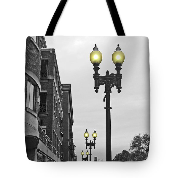 Boston Streetlamps Tote Bag
