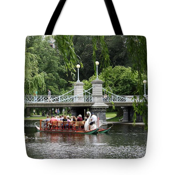 Boston Swan Boat Tote Bag by Christiane Schulze Art And Photography