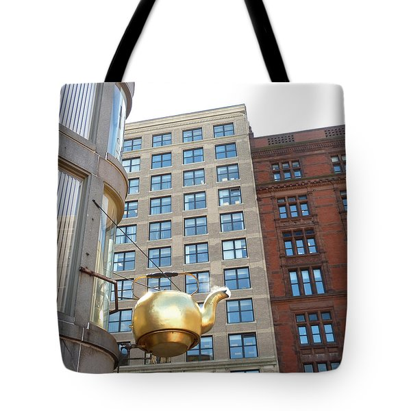 Boston Teapot - Color Tote Bag