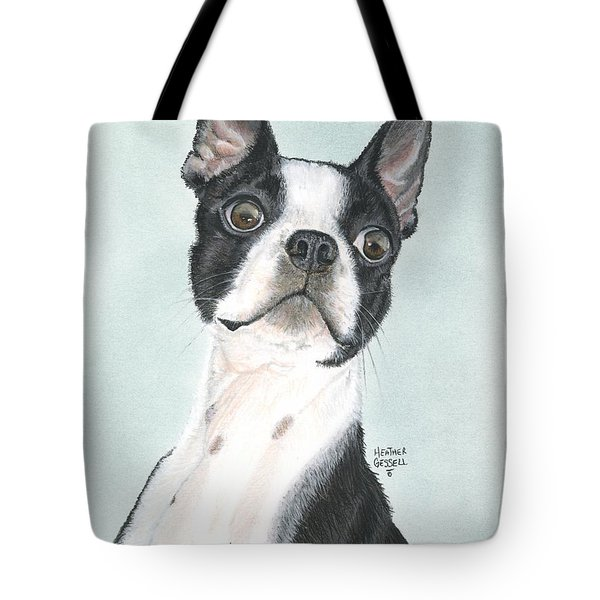 Boston Terrier Tote Bag by Heather Gessell