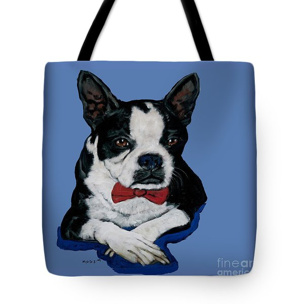 Boston Terrier With A Bowtie Tote Bag