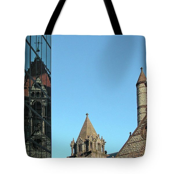 Boston Unity Reflected 2853 Tote Bag by Guy Whiteley