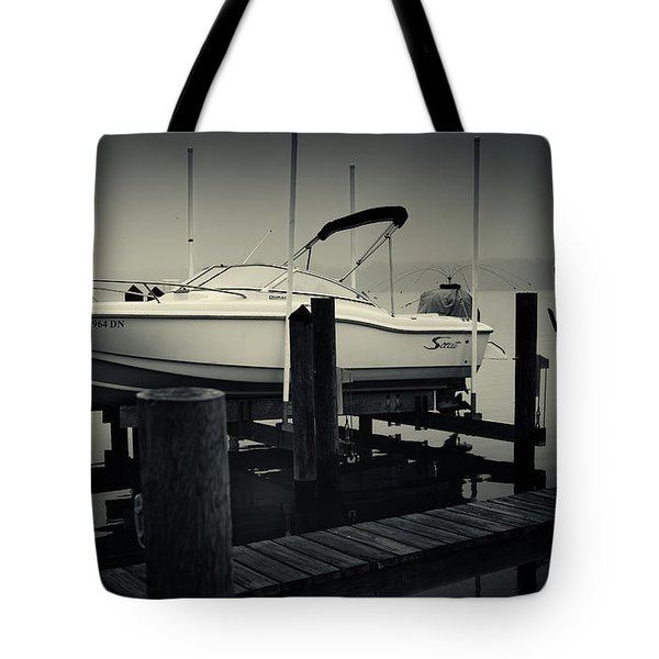 Boston Whaler In The Fog Tote Bag